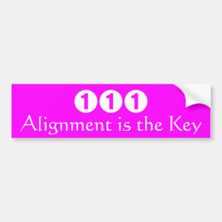 L'alignement est la clé autocollant de voiture