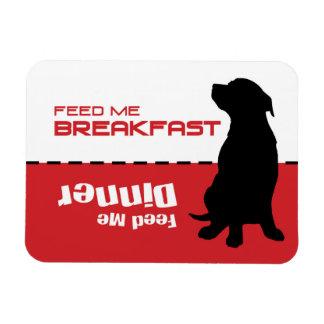 L'alimentation de chien m'alimentent que le chien magnets en rectangle