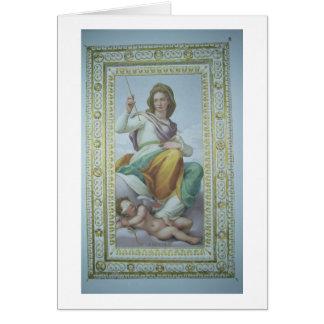 L'allégorie de la chasteté (fresque) carte de vœux