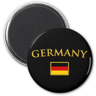 L'Allemagne d'or Magnet Rond 8 Cm