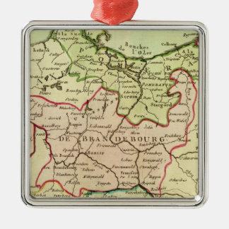 L'Allemagne et la Pologne Ornement Carré Argenté