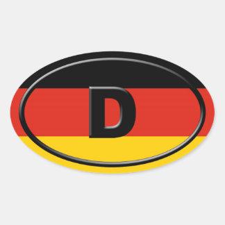 L'Allemagne - le Deutschland - Européen Autocollants Ovales