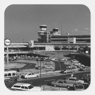 L'Allemagne vintage Berlin l'aéroport 1970 de Sticker Carré