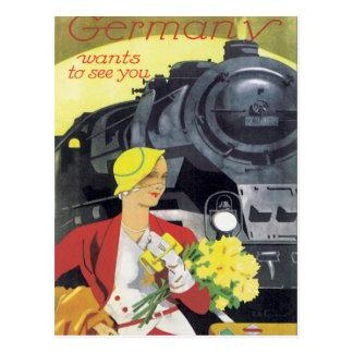 L'Allemagne vintage Carte Postale