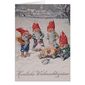 L'Allemand vintage rapetisse la carte de Noël