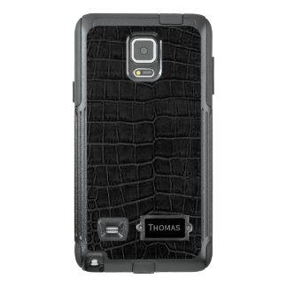 L'alligator noir Otterbox Samsung de Faux notent