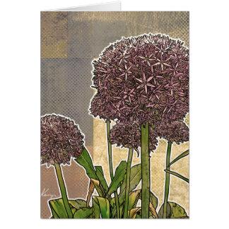 L'allium fleurit des cartes de voeux
