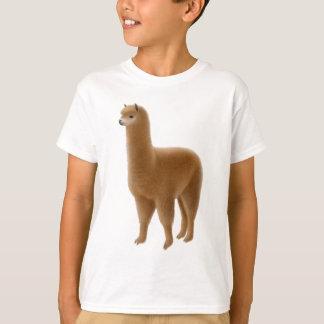 L'alpaga amical de Brown badine le T-shirt