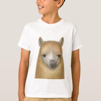 L'alpaga mignon badine le T-shirt