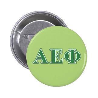 L'alpha vert epsilon de phi marque avec des badge