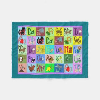 L'alphabet bloque la couverture de bébé couverture polaire