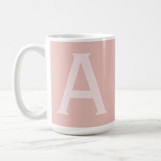 L'alphabet Gifting grand rougissent tasse décorée