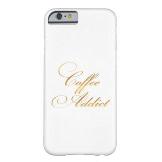 L'aluminium de Faux d'or de citation d'intoxiqué Coque iPhone 6 Barely There