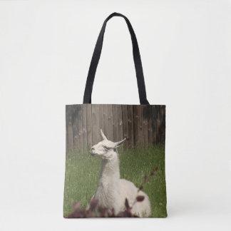 Lama blanc sac