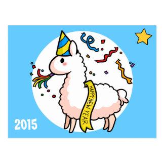 Lama de bonne année carte postale