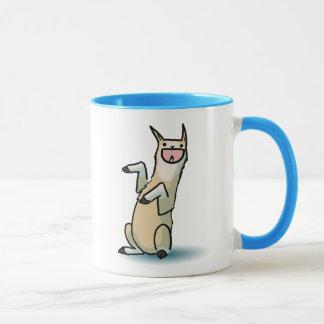 Lama heureux mug