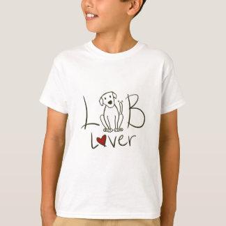 L'amant de laboratoire badine le T-shirt