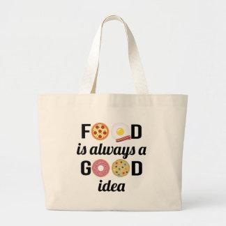 L'amant de nourriture grand tote bag
