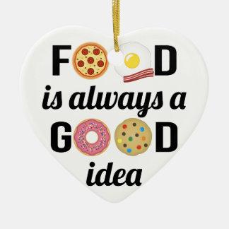 L'amant de nourriture ornement cœur en céramique