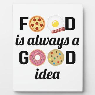 L'amant de nourriture plaque d'affichage
