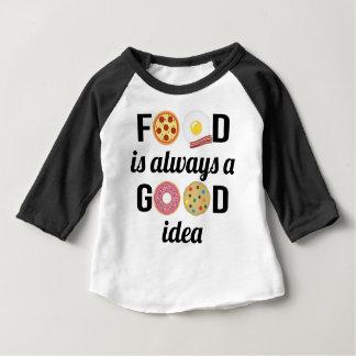 L'amant de nourriture t-shirt pour bébé