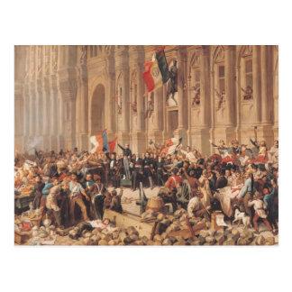 Lamartine rejette le drapeau rouge en 1848 carte postale