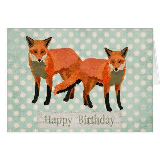 L'ambre macule la carte d'anniversaire