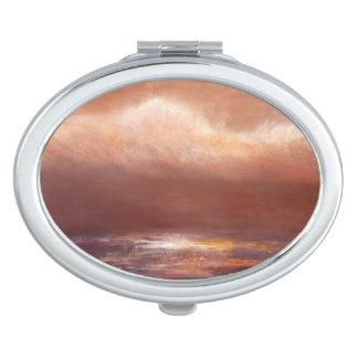 L'ambre opacifie le miroir compact