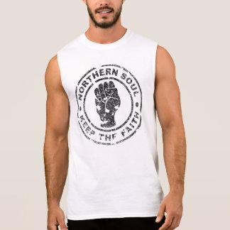 L'âme du nord gardent la foi (vintage/affligée) t-shirt sans manches
