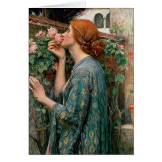 L'âme du rose, 1908 carte de vœux