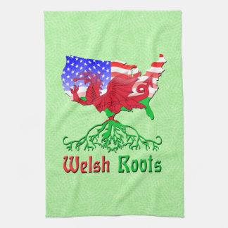 L'Américain Gallois enracine des serviettes de Serviettes Pour Les Mains