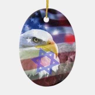 L'Américain juif Ornement Ovale En Céramique