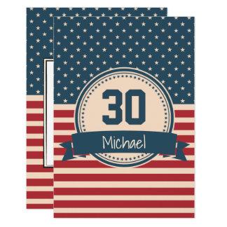 L'Américain tient le premier rôle l'invitation Carton D'invitation 8,89 Cm X 12,70 Cm