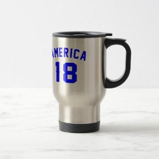 L'Amérique 18 conceptions d'anniversaire Mug De Voyage