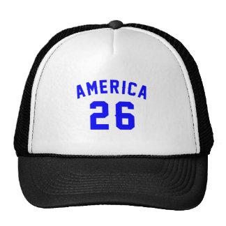 L'Amérique 26 conceptions d'anniversaire Casquette