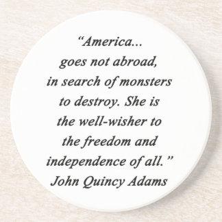 L'Amérique à l'étranger - John Q Adams Dessous De Verre