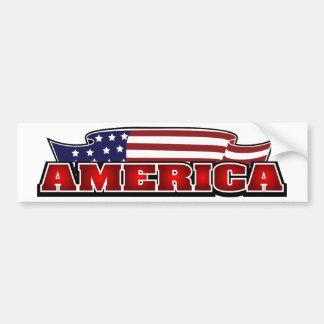 L'Amérique Autocollant Pour Voiture