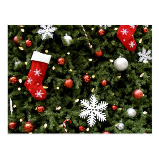 L'Amérique du Nord. Décorations de Noël sur Carte Postale