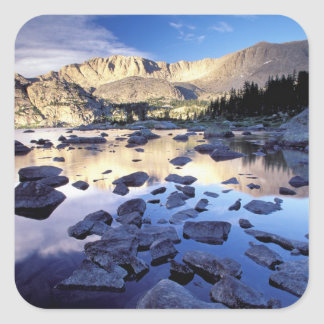 L'Amérique du Nord, Etats-Unis, Wyoming, Sticker Carré