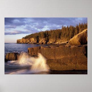 L'Amérique du Nord, USA, JE, la côte rocheuse du M Poster