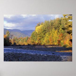 L'Amérique du Nord, USA, NH, rivière de Saco. Pavé Affiches