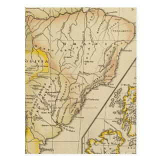 L'Amérique du Sud, îles britanniques Carte Postale