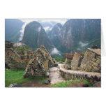 L'Amérique du Sud, Pérou, Machu Picchu Cartes De Vœux