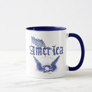 L'Amérique Eagle 1 tasse bleue
