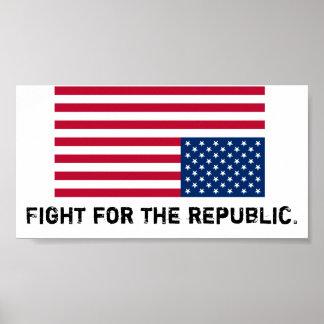 L'Amérique est dans la détresse, combat pour la ré Posters