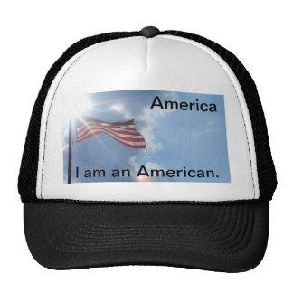 L'Amérique - je suis un Américain Casquettes De Camionneur