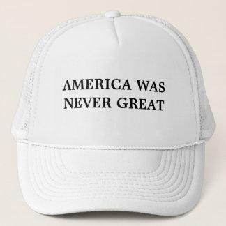 L'Amérique n'était jamais grand casquette