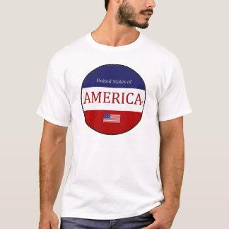 L'Amérique ovale colore le T-shirt moderne de