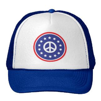 L'Amérique rouge, signe de paix blanc et bleu Casquettes