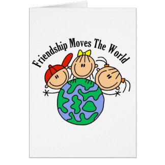 L'amitié déplace le T-shirts et les cadeaux du Carte De Vœux